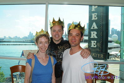 The band:  Maria, Shawn, Jim. THE EMPEROR'S NEW CLOTHES.  Chicago Shakespeare.  July 2010