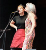 Shawn Colvin & Emmylou Harris at Elk's Park during Telluride Bluegrass Festival.