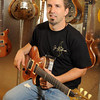 Jason Z Schroeder_musician & custom guitar builder. (All guitars in photo are Schroeder's)