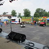 Setting up. The stage was great. It's basically a tractor trailer that opens into a stage (owned and donated by the city of Madison.)