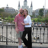 Shay and I on the Moonwalk overlooking Jackson Square (and St. Louis Cathedral)