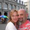 Shay and I at Jackson Square (St. Louis Cathedral in background)