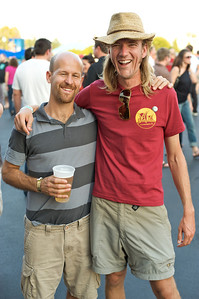 Joshua Scarpaci from Latonia, KY and Braden Trauth from Northside at PNC Pavilion Wednesday for My Morning Jacket