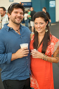 Bryan Silness and Lauren Turton from Dayton at PNC Pavilion Wednesday for My Morning Jacket