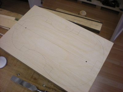In mid-November 2012, Olivia began making the mold for the viola d'amore. The shape was arrived at after she visited with Thomas Georgi<br>  http://www.tafelmusik.org/about/orchestra/bios/thomas-georgi<br><br> in Toronto and saw his instruments and after I shared pictures of instruments belonging to Hans-Karl Piltz in Vancouver.