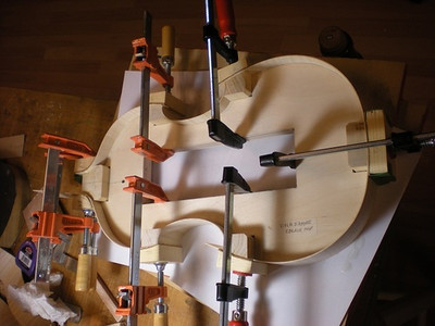 All ribs bent and glued