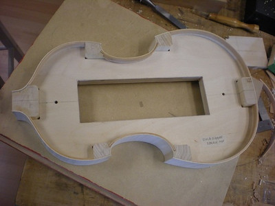 Dec. 5, 2012 - the ribs are complete around the form for the instrument which is modeled on an early instrument by Eberle.
