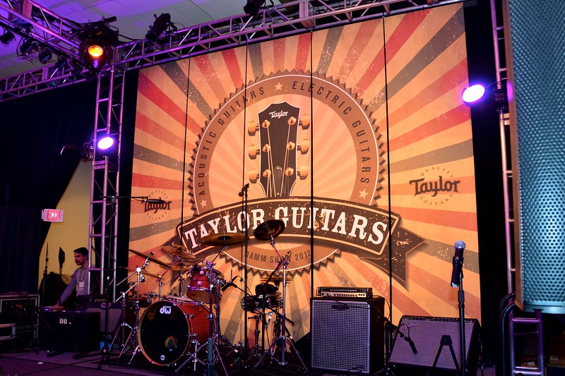 Taylor Guitar's (native to San Diego) Performance Stage.