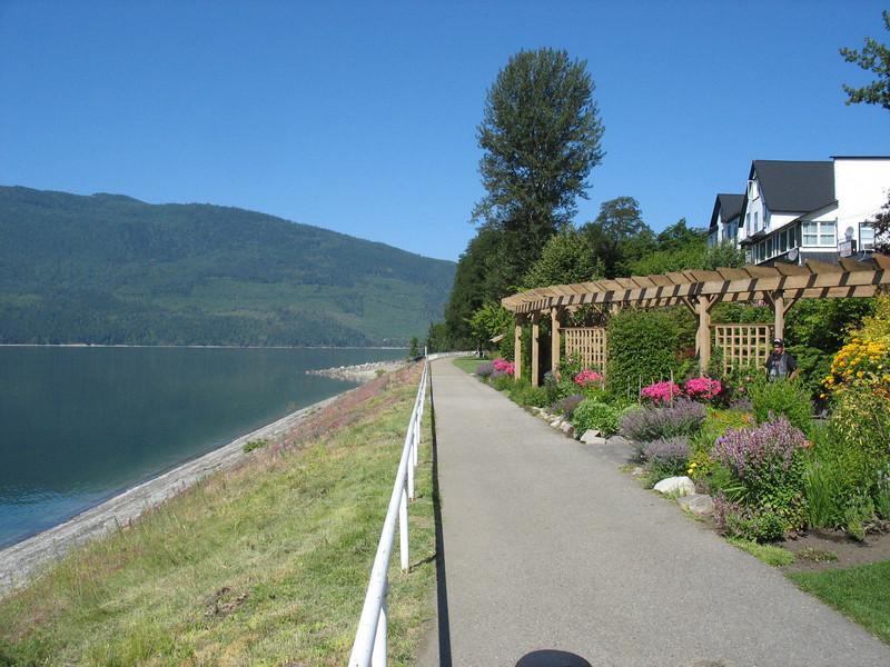 Nakusp waterfront boardwalk.