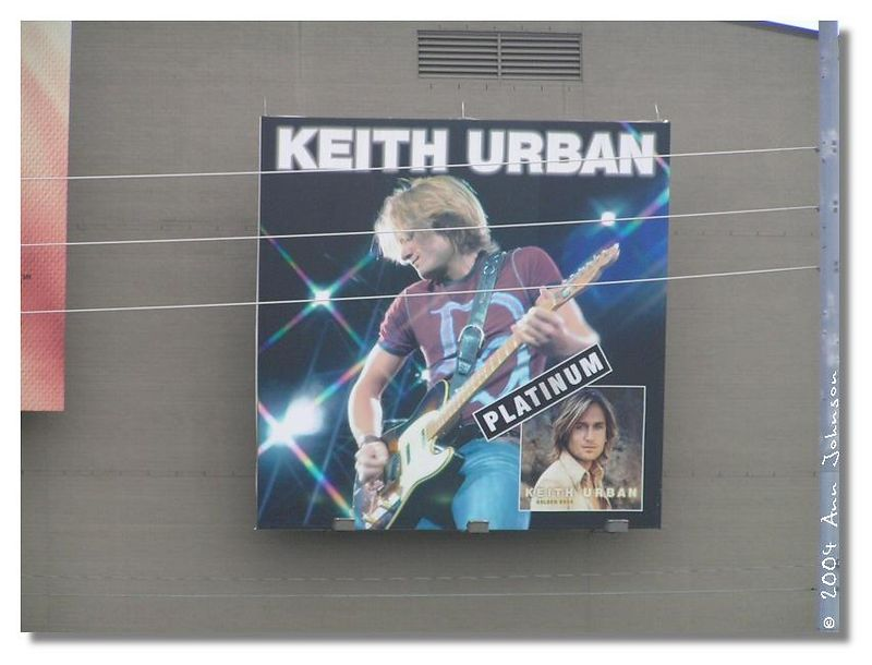 Keith is still up on the side of the Country Music Hall of Fame.