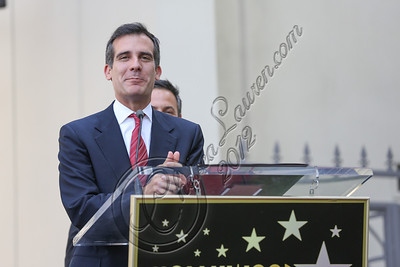 HOLLYWOOD, CA - AUGUST 10:  Councilman Eric Garcetti attends Neil Diamond's Hollywood Walk of Fame ceremony on August 10, 2012 in Hollywood, California.  (Photo by Chelsea Lauren/WireImage)