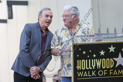 HOLLYWOOD, CA - AUGUST 10:  Singers Neil Diamond (L) and Randy Newman attend Neil Diamond's Hollywood Walk of Fame ceremony on August 10, 2012 in Hollywood, California.  (Photo by Chelsea Lauren/WireImage)
