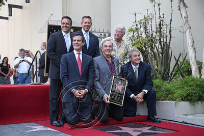 HOLLYWOOD, CA - AUGUST 10:  Singer Neil Diamond (bottom center), singer Randy Newman (top right) and councilman Eric Garcetti (bottom left) attend Neil Diamond's Hollywood Walk of Fame ceremony on August 10, 2012 in Hollywood, California.  (Photo by Chelsea Lauren/WireImage)