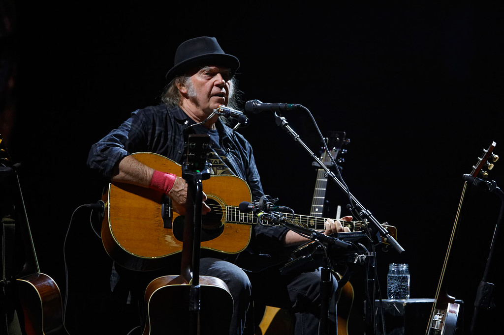 . Neil Young live at The Fox Theatre in  Detroit on 7-3-2018.  Photo credit: Ken Settle