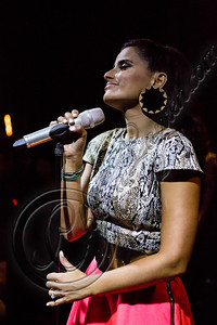 HOLLYWOOD, CA - JULY 19:  Singer Nelly Furtado performs at The Sayers Club on July 19, 2012 in Hollywood, California.  (Photo by Chelsea Lauren/WireImage)