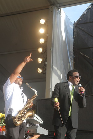 Al Green performs first weekend of New Orleans Jazz & Heritage Festival at Congo Square closing out the day of the first weekend , April 29, 2012.