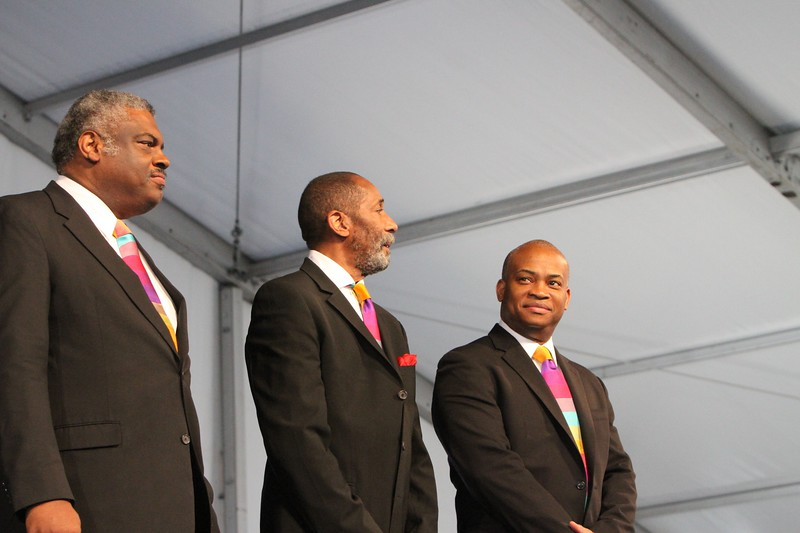 The Golden Striker Trio New Orleans Jazz Festival first weekend 2011 Ron Carter, Mulgrew Miller , Russell Malone
