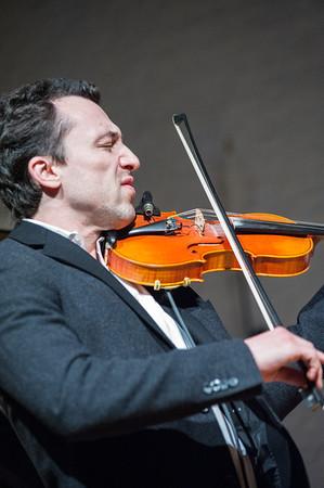 Matvei Sigalov displays his jazz prowess on violin.