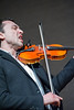 Matvei Sigalov displays his jazz prowess on violin.