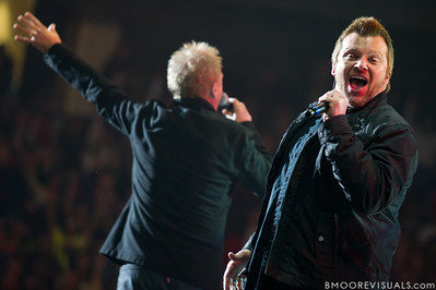 Eddie Carswell and Russ Lee of Newsong perform on January 14, 2012 during Winter Jam at Tampa Bay Times Forum in Tampa, Florida