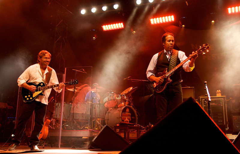 Al di Meola, Stanley Clarke and Lenny White playing with Return To Forever at the Nice Jazz Festival 2008