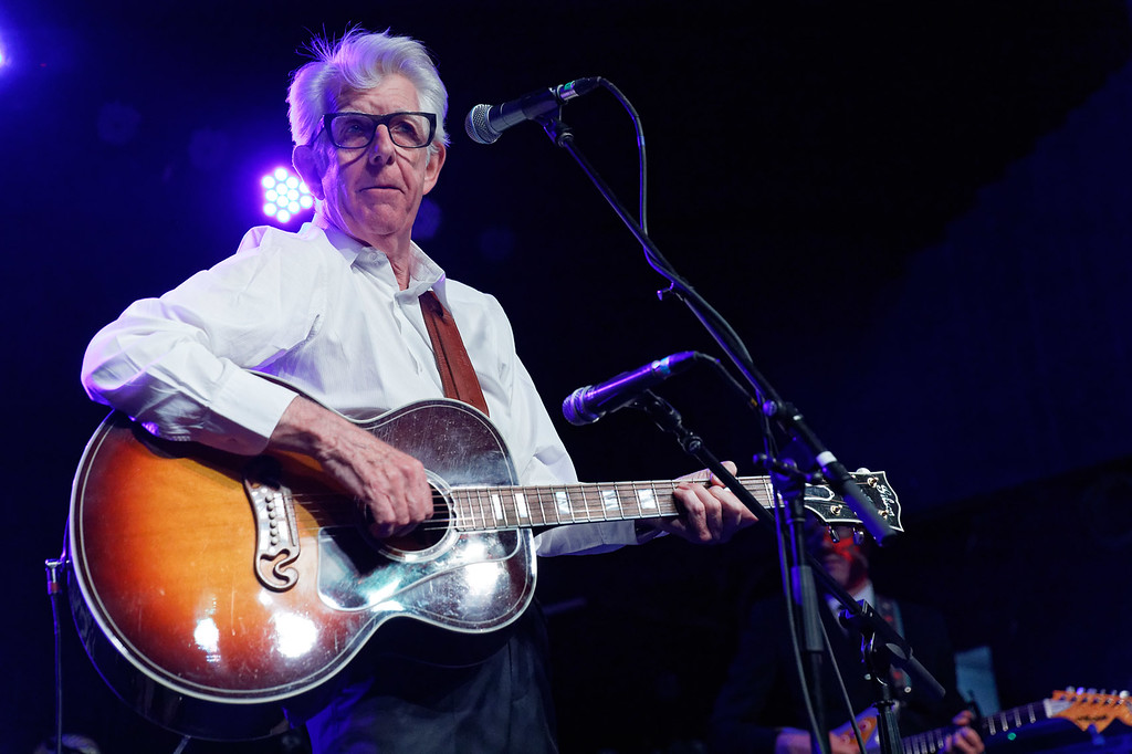 . Nick Lowe & Los Straitjackets live at St Andrews Hall on 6-29-2018.  Photo credit:   Ken Settle