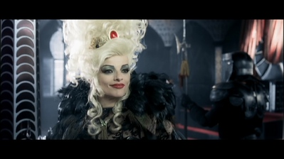 "DVD screenshot from the movie ""7 Zwerge"" in which Nina plays the evil queen."