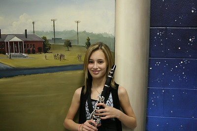 Summer with her clarinet.