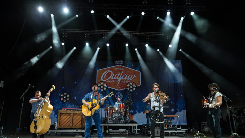 June 23, 2018 Old Crow Medicine Show at the Outlaw Music Festival in Indianapolis, Indiana.