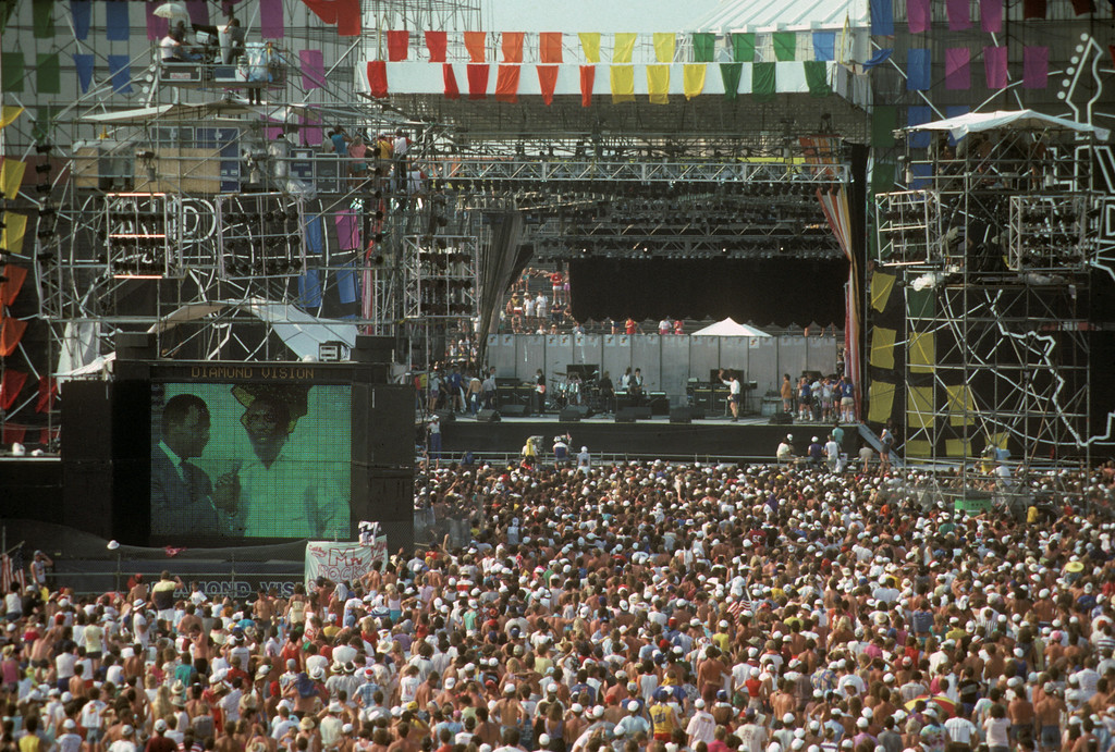 Live Aid<br /> JFK Stadiium<br /> Philadelphia