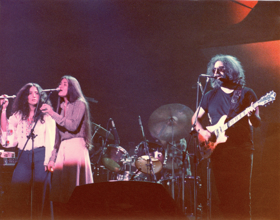 Jerry Garcia Band<br /> Maria Muldaur, Donna Godchaux, Jery Garcia<br /> Tower Theater, Philadelphia