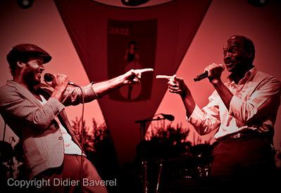 *legende*  Festival de Jazz de Nice. Alain Clark et son pere Dane