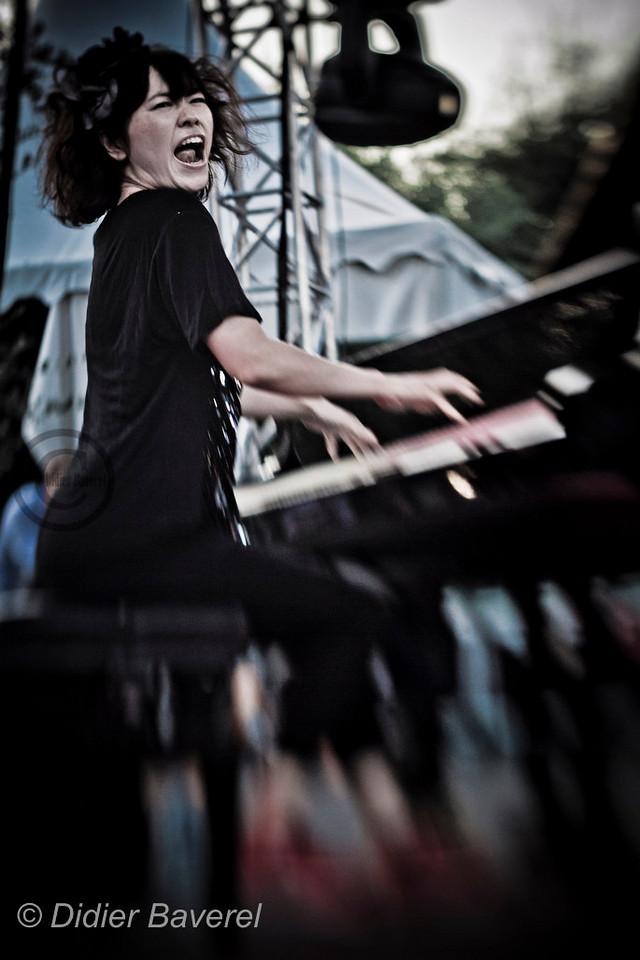 *legende* Festival de Jazz de Nice aux arenes de Cimiez. Hiromi Uehara