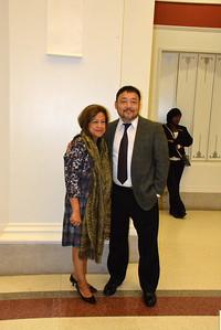 Mrs. & Mr. Weihong Yan after the show - Opera Carolina - 2015 Art, Poetry, Music @ Halton Theater, Charlotte, NC  10-3-15