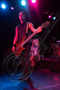 WEST HOLLYWOOD, CA - SEPTEMBER 23:  Bassist Nic Speck of Orgy performs at The Roxy Theatre on September 23, 2012 in West Hollywood, California.  (Photo by Chelsea Lauren/WireImage)