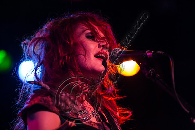WEST HOLLYWOOD, CA - SEPTEMBER 23:  Bassist / vocalist Nadja Mesmer of Vera Mesmer performs at The Roxy Theatre on September 23, 2012 in West Hollywood, California.  (Photo by Chelsea Lauren/WireImage)