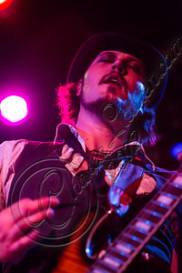 WEST HOLLYWOOD, CA - SEPTEMBER 23:  Vocalist / guitarist Christopher Mesmer of Vera Mesmer performs at The Roxy Theatre on September 23, 2012 in West Hollywood, California.  (Photo by Chelsea Lauren/WireImage)
