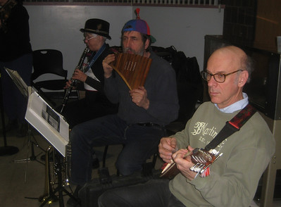 Zjemi, Ken, and Joe -- clarinet, panpipes, and tambura