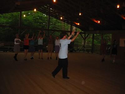 Tineke teaching Armenian dancing