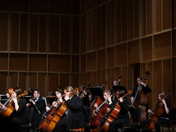 West  Chester University Orchestra, 2007, cello section