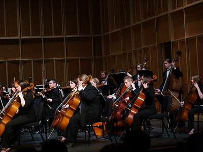 West  Chester University Orchestra, 2007. Trudy in middle.