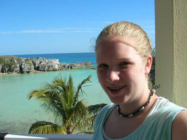 Trudy in Bermuda with H.S. Choir