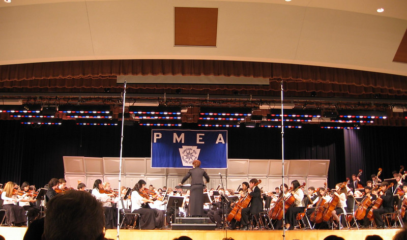 Trudy at District Orchestra concert, 2006