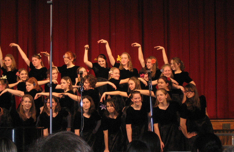 Trudy and Lydia (on right) in their H.S. Select Choir... spring concert 2006