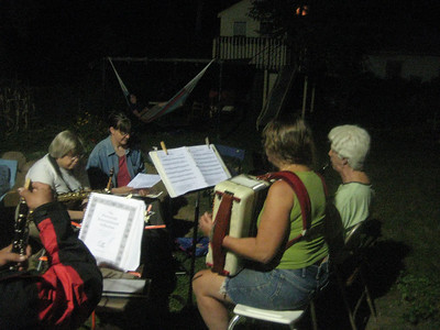 Another group playing outdoors (7:50pm)