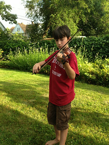 Kiernan again, playing an American tune on his brother's violin.