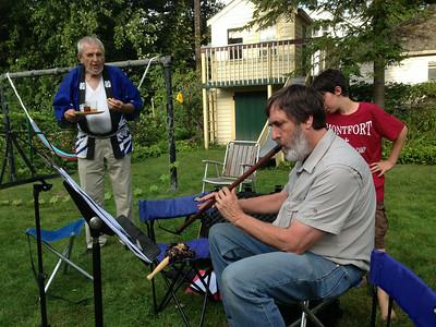 Ken playing kaval, a Balkan instrument: