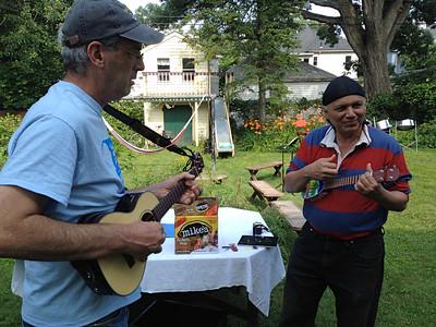 Joel and Manuel began to jam...