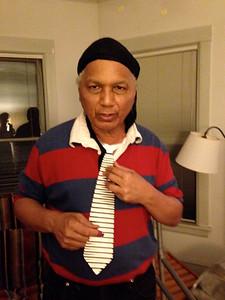 """Manuel tried my """"Zydecko tie"""""""