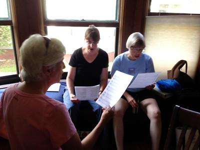 Barb, Kitty, and Karen singing Bulgarian songs
